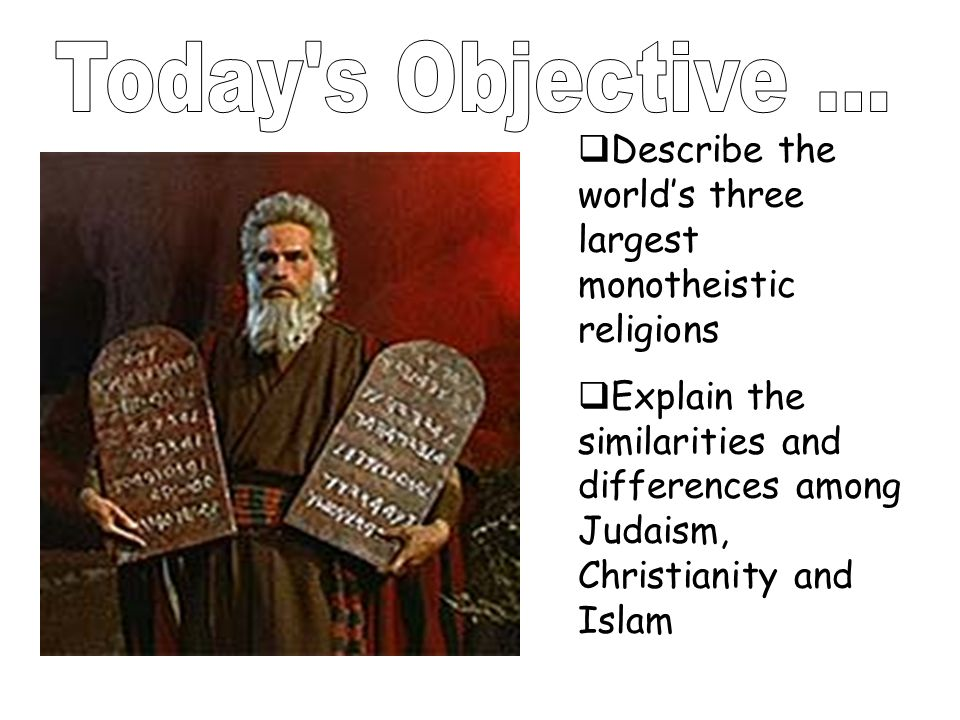 similarities and differences of the three major religions Three major world religions what are the similarities and differences  between judaism, christianity, and islam published byjanice butler modified.