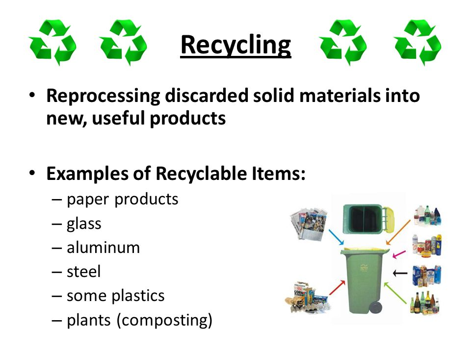 Solid and hazardous waste ppt download for Useful product out of waste material