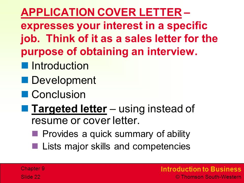 targeted letter using instead of resume or cover letter provides