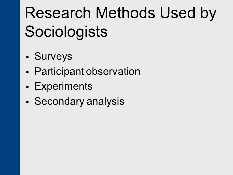Research on Sociology