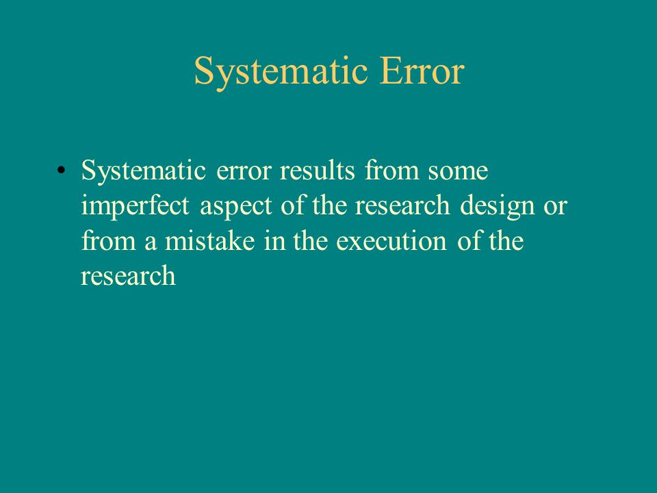 how to avoid systematic error in a survey