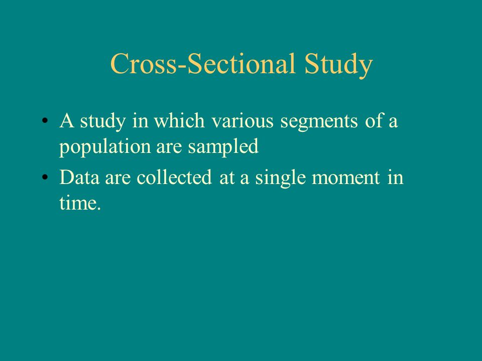 how to identify cross sectional study