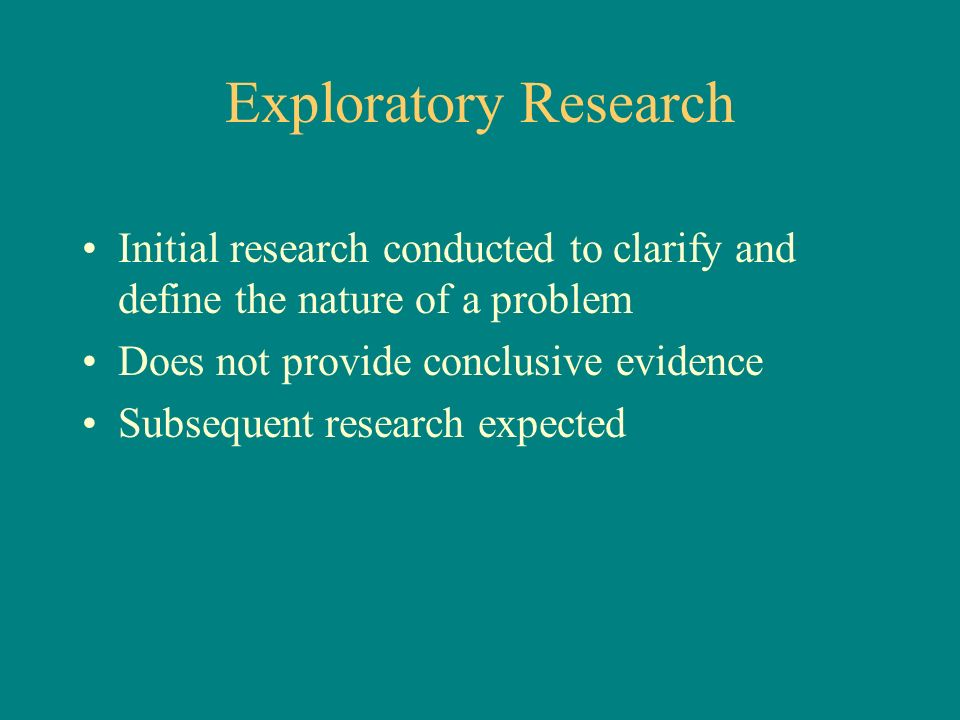 define exploratory research Looking for online definition of exploratory in the medical dictionary exploratory explanation free what is exploratory meaning of exploratory medical term what.