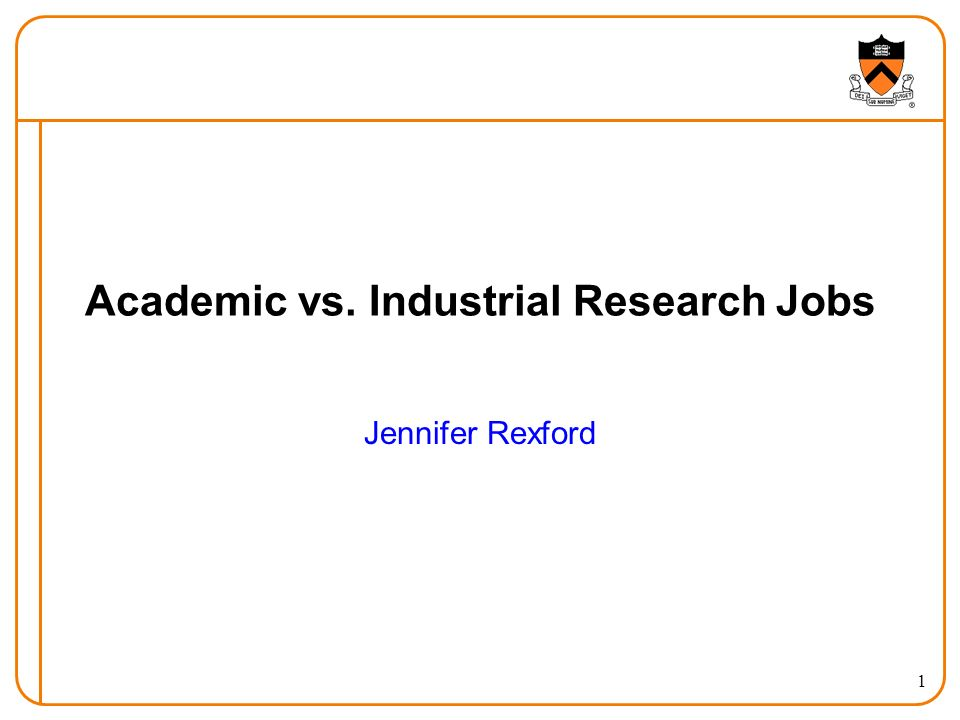 Academic vs. Industrial Research Jobs