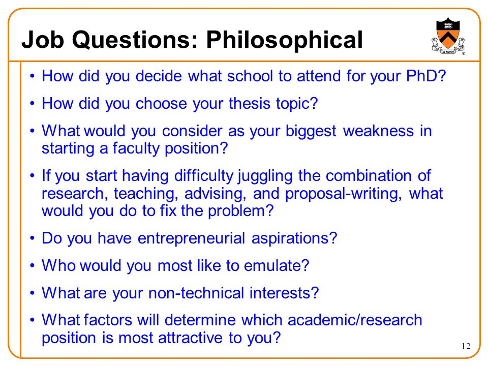Job Questions: Philosophical