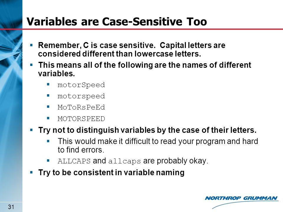 What Does Letters Are Not Case Sensitive Mean