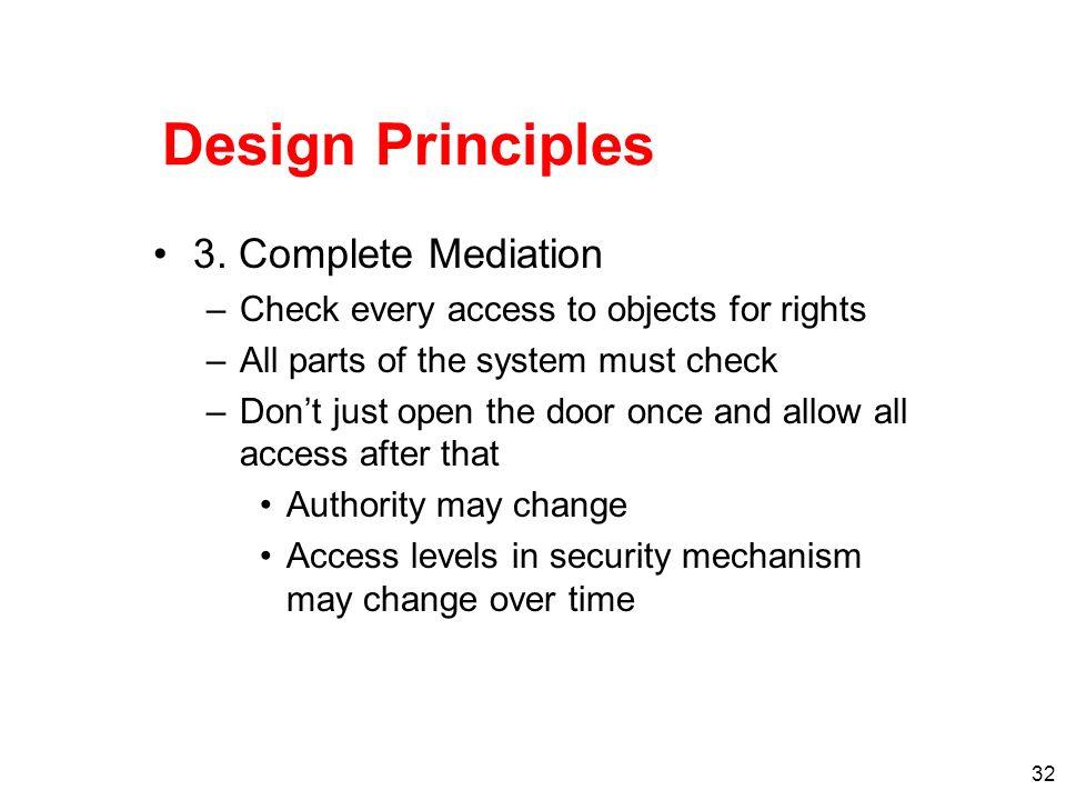 Design Principles 3. Complete Mediation