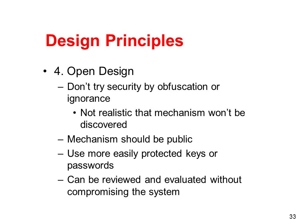 Design Principles 4. Open Design