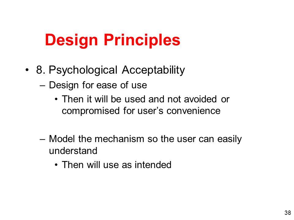Design Principles 8. Psychological Acceptability