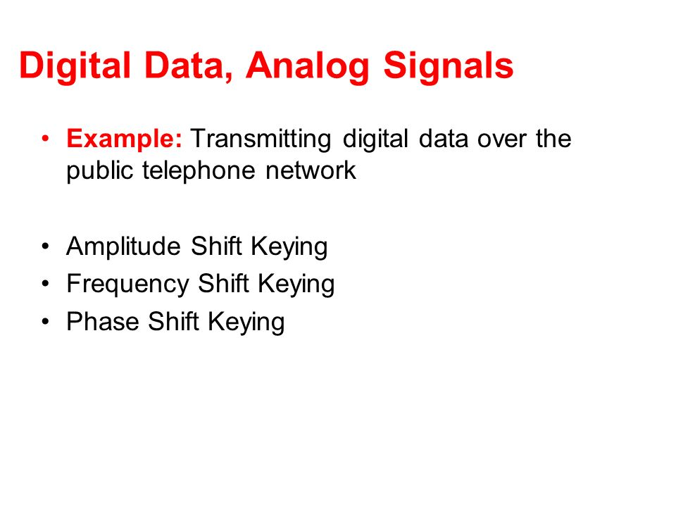 Digital Data, Analog Signals