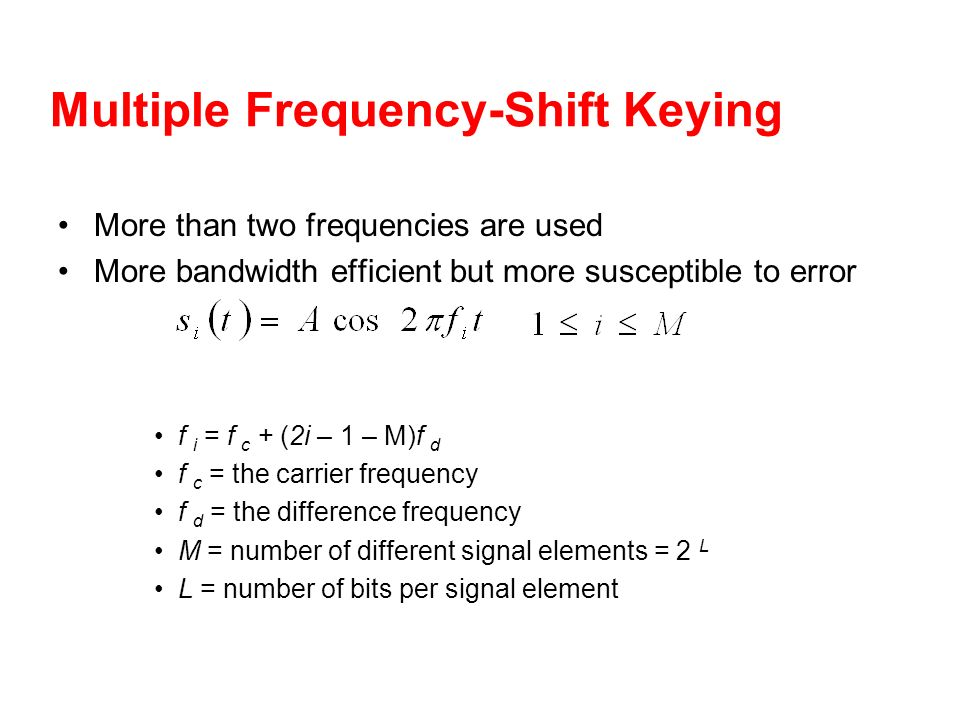 Multiple Frequency-Shift Keying