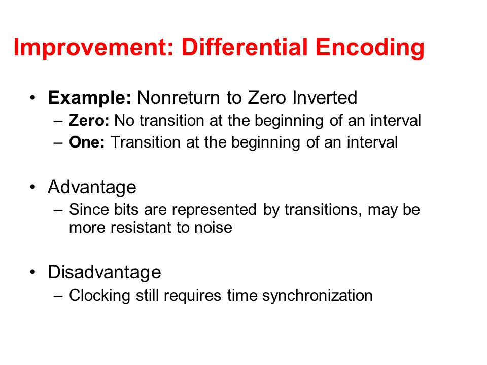 Improvement: Differential Encoding