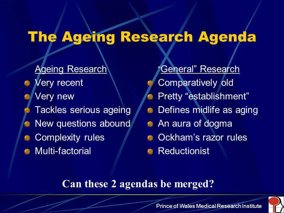 The Ageing Research Agenda