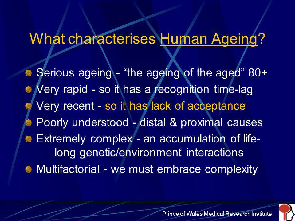 What characterises Human Ageing