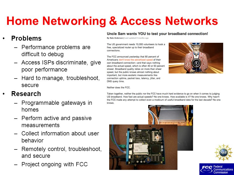 Home Networking & Access Networks