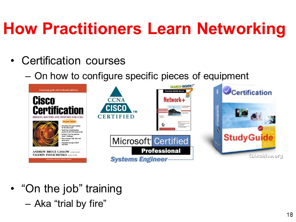 How Practitioners Learn Networking