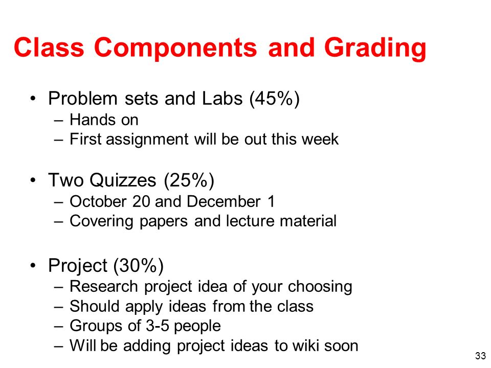 Class Components and Grading