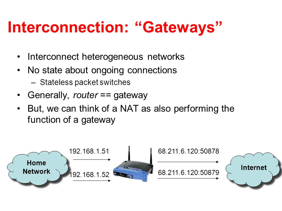 Interconnection: Gateways