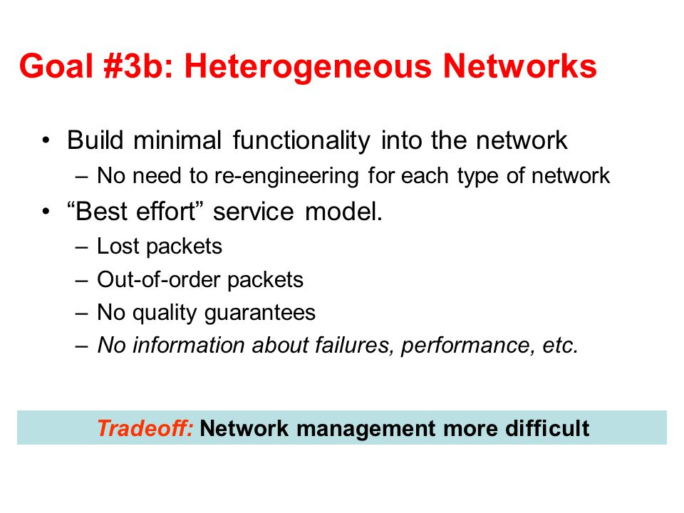 Goal #3b: Heterogeneous Networks