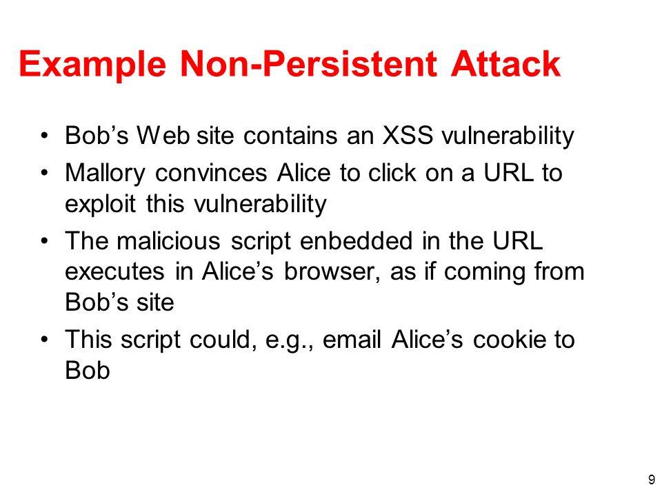 Example Non-Persistent Attack