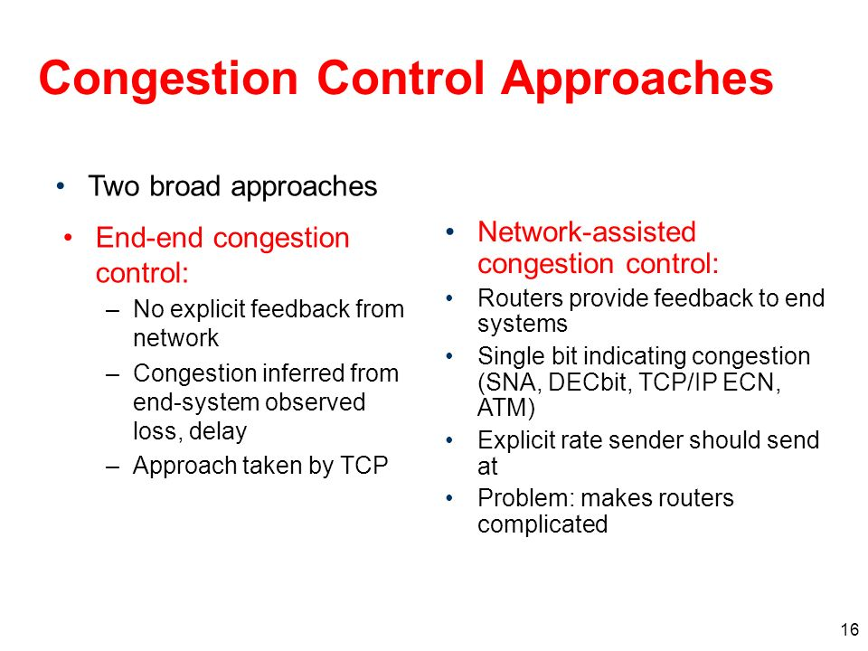 Congestion Control Approaches