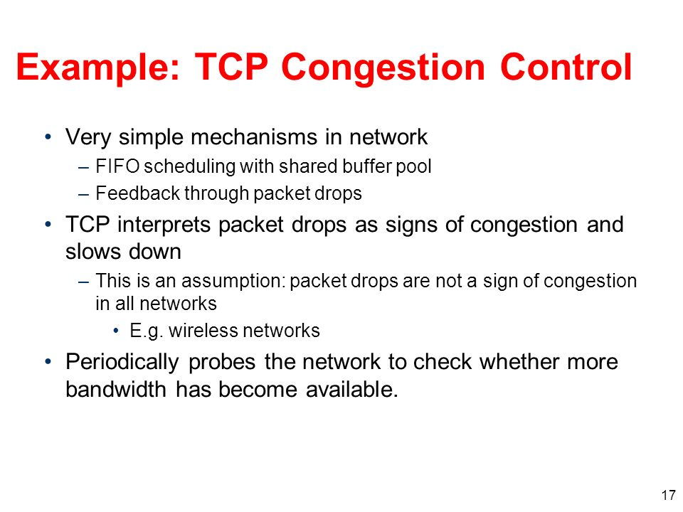 Example: TCP Congestion Control