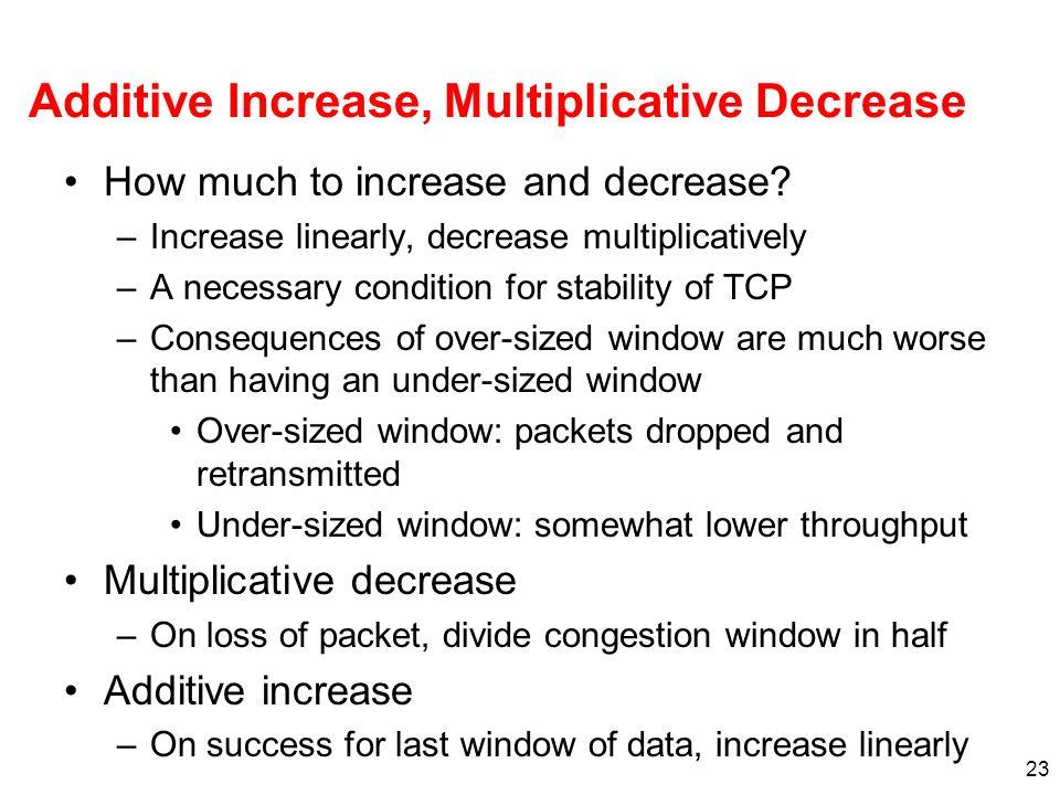 Additive Increase, Multiplicative Decrease