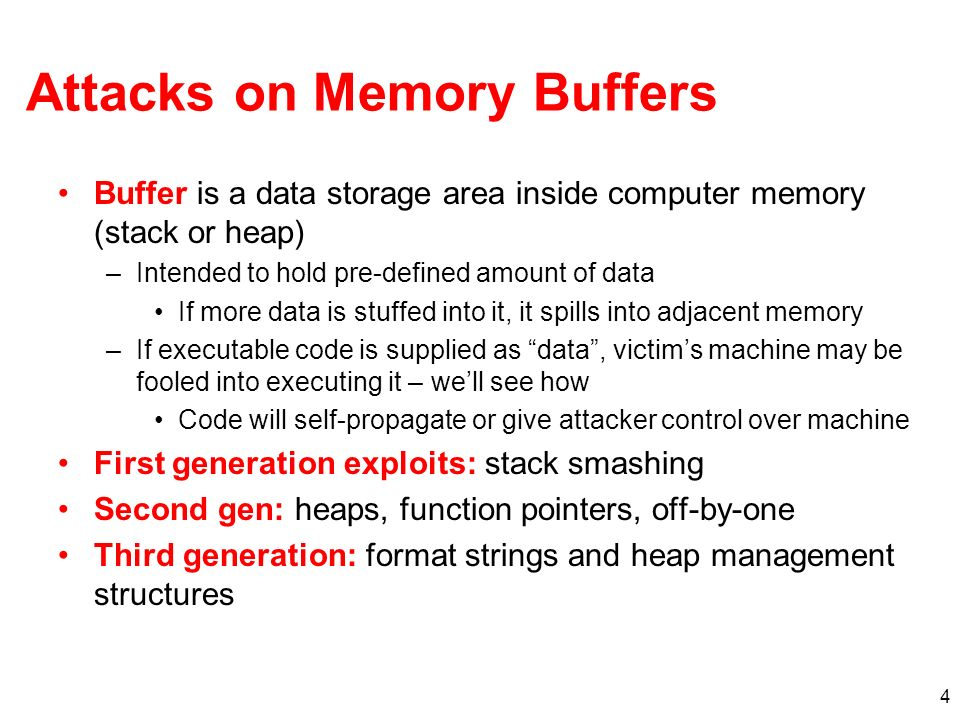 Attacks on Memory Buffers