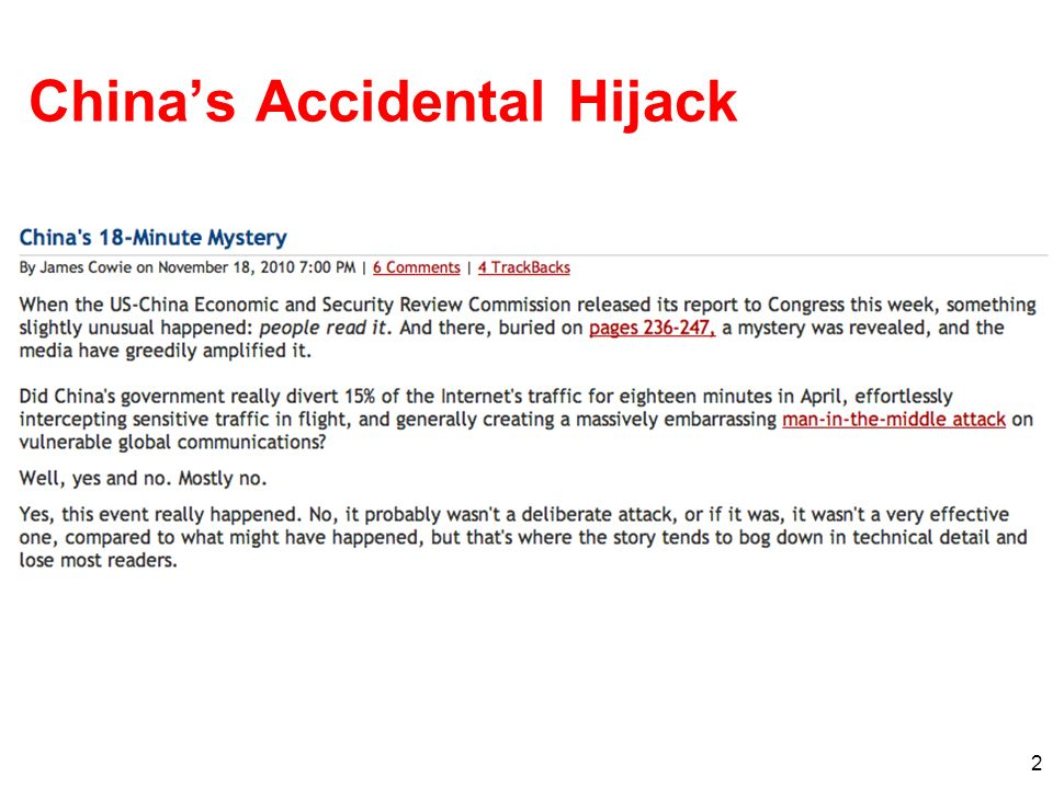 China's Accidental Hijack