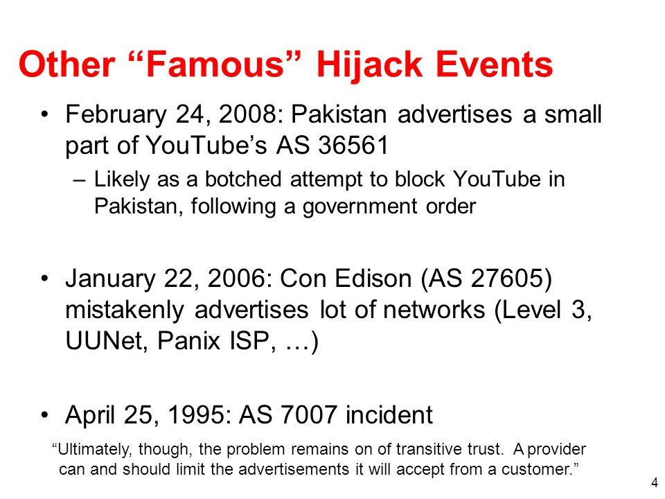 Other Famous Hijack Events
