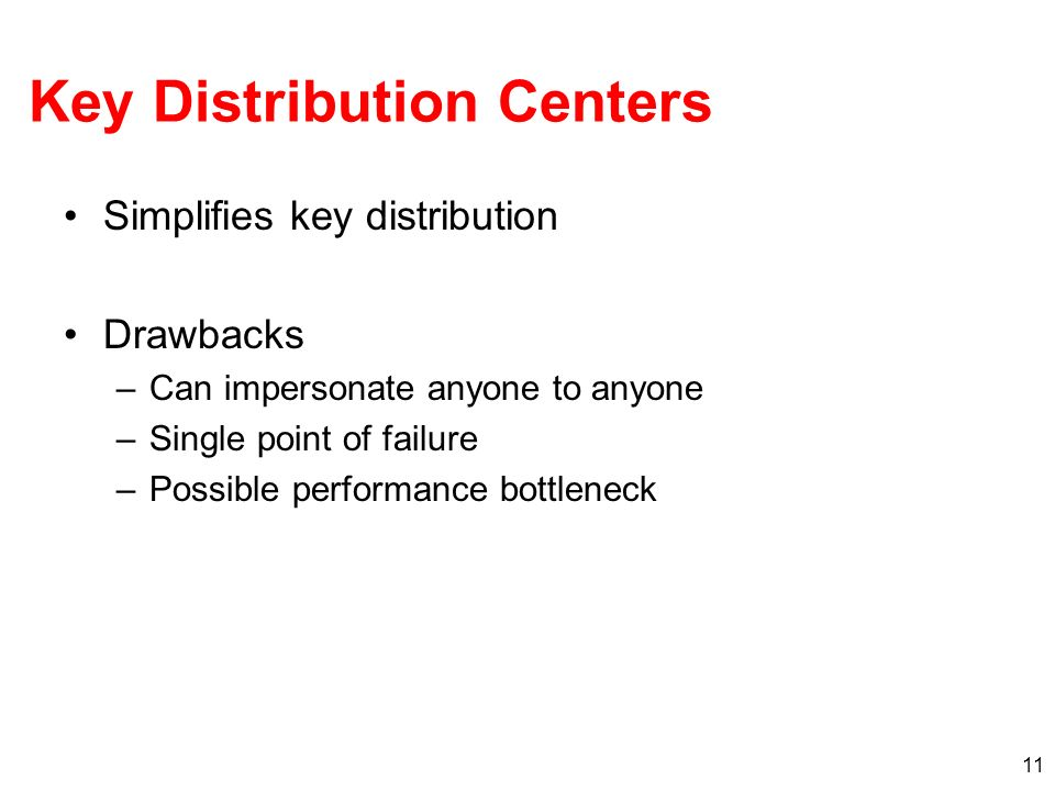 Key Distribution Centers