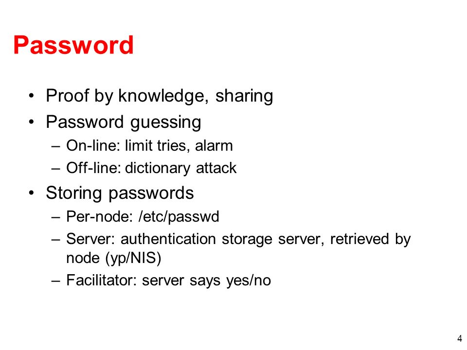 Password Proof by knowledge, sharing Password guessing