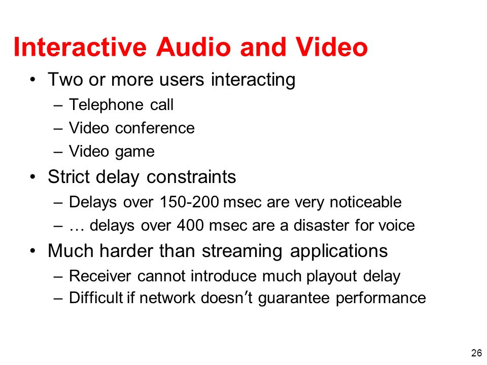 Interactive Audio and Video