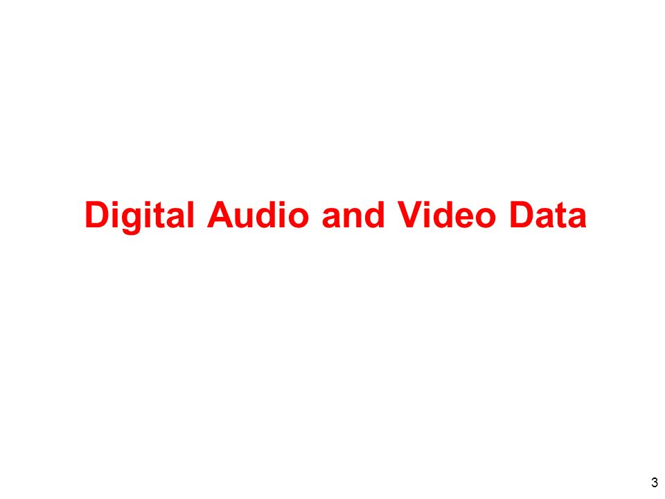 Digital Audio and Video Data