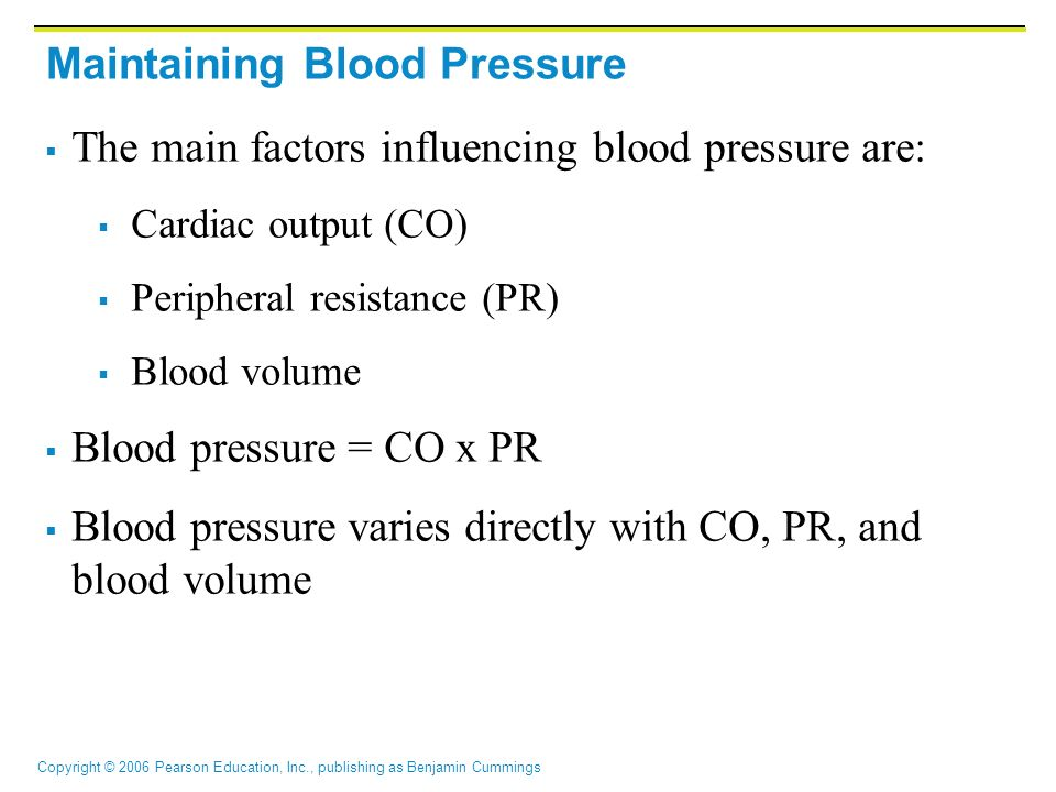 Maintaining Blood Pressure