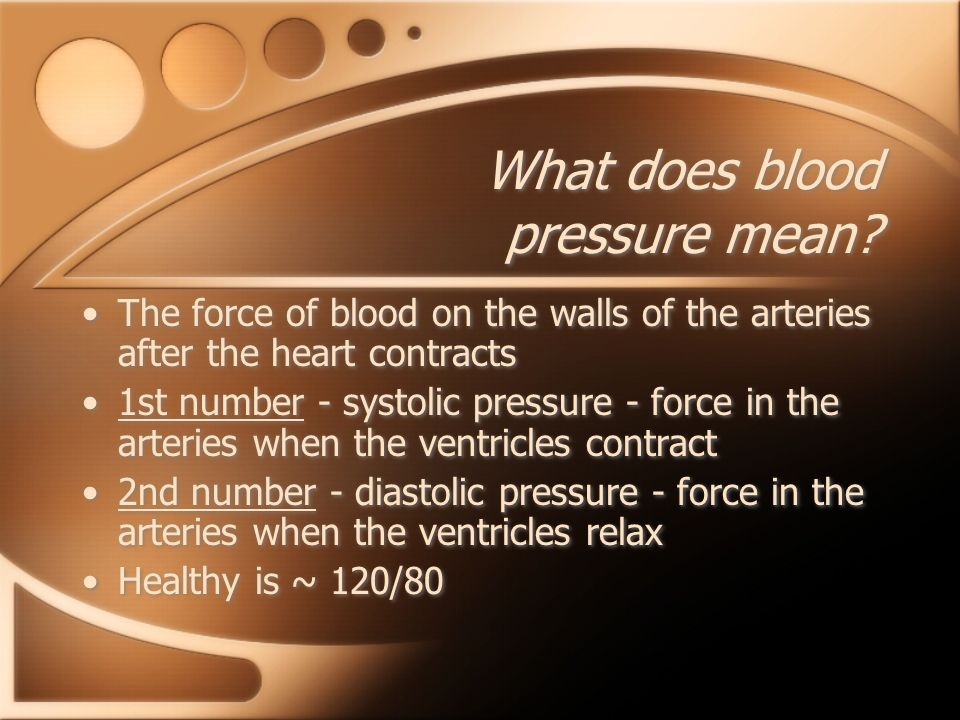 What does blood pressure mean