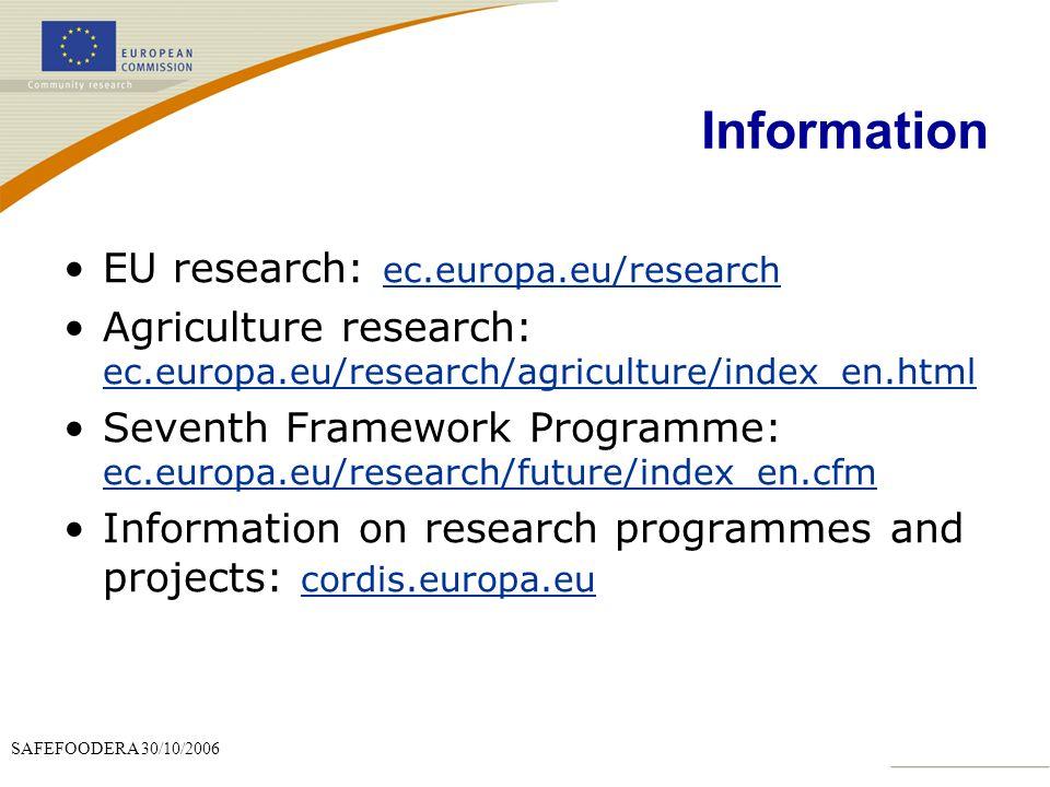 Information EU research: ec.europa.eu/research