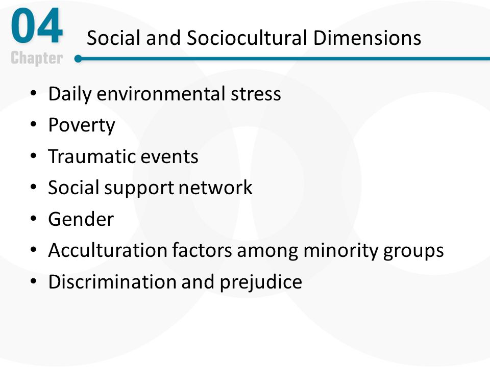 13 social and cultural factors related Quick answer sociocultural factors are customs, lifestyles and values that characterize a society or group cultural aspects include concepts of beauty, education, language, law and politics, religion, social organizations, technology and material culture, values and attitudes.