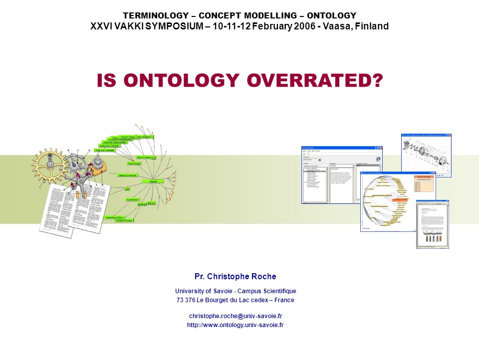 TERMINOLOGY – CONCEPT MODELLING – ONTOLOGY