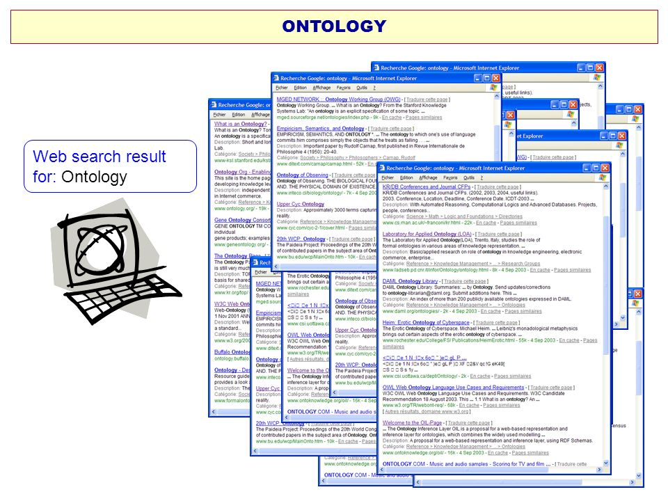 ONTOLOGY Web search result for: Ontology