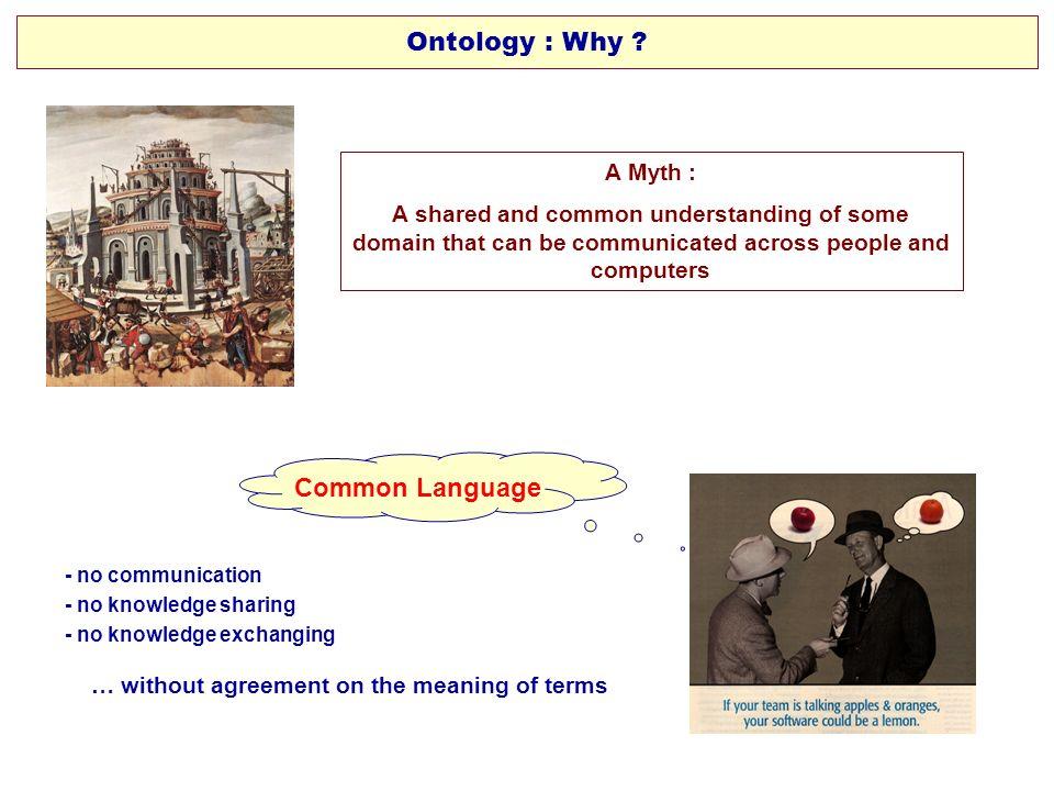 Ontology : Why Common Language A Myth :
