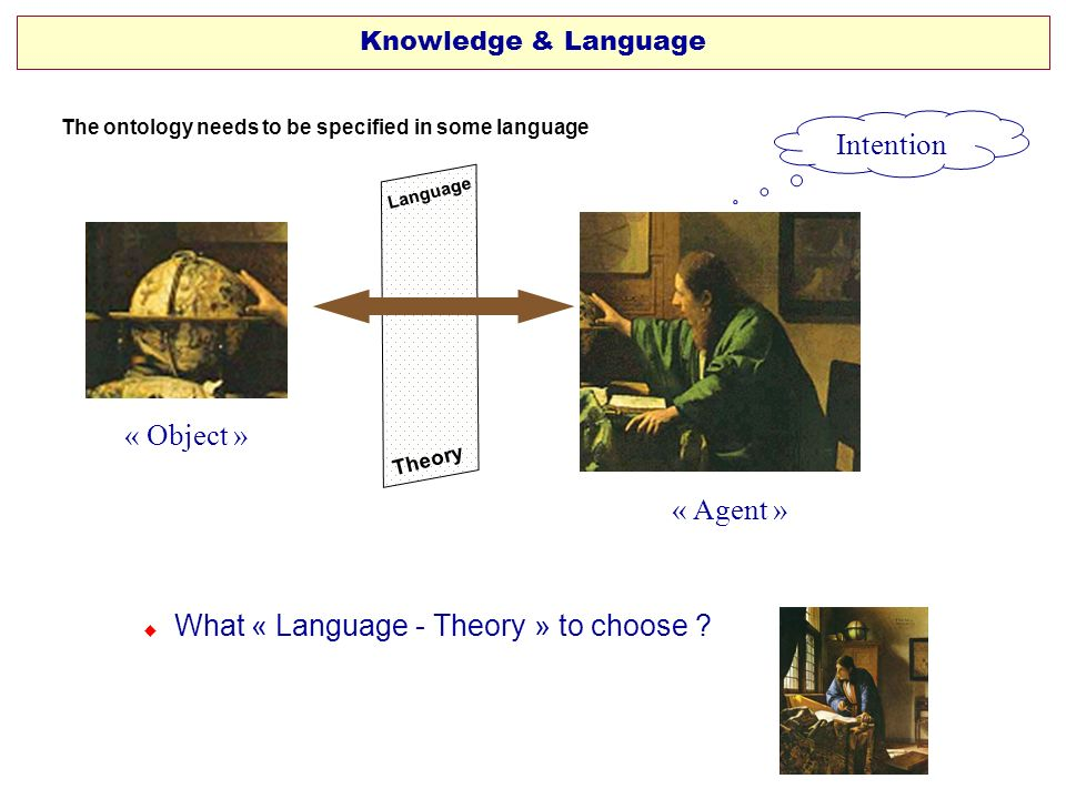  What « Language - Theory » to choose
