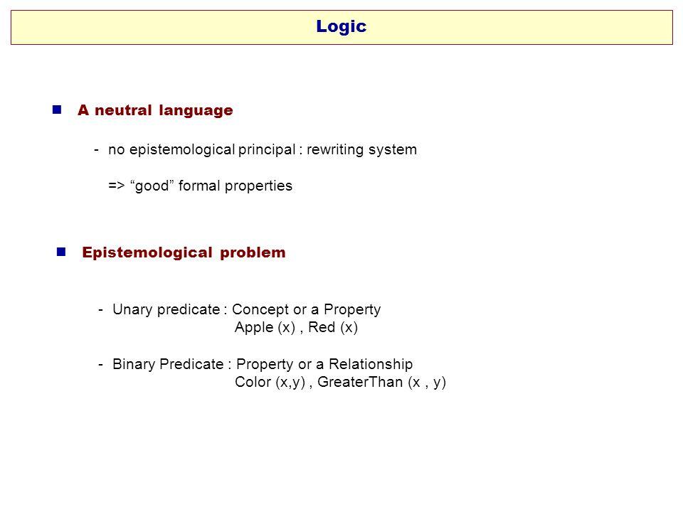 Logic  A neutral language