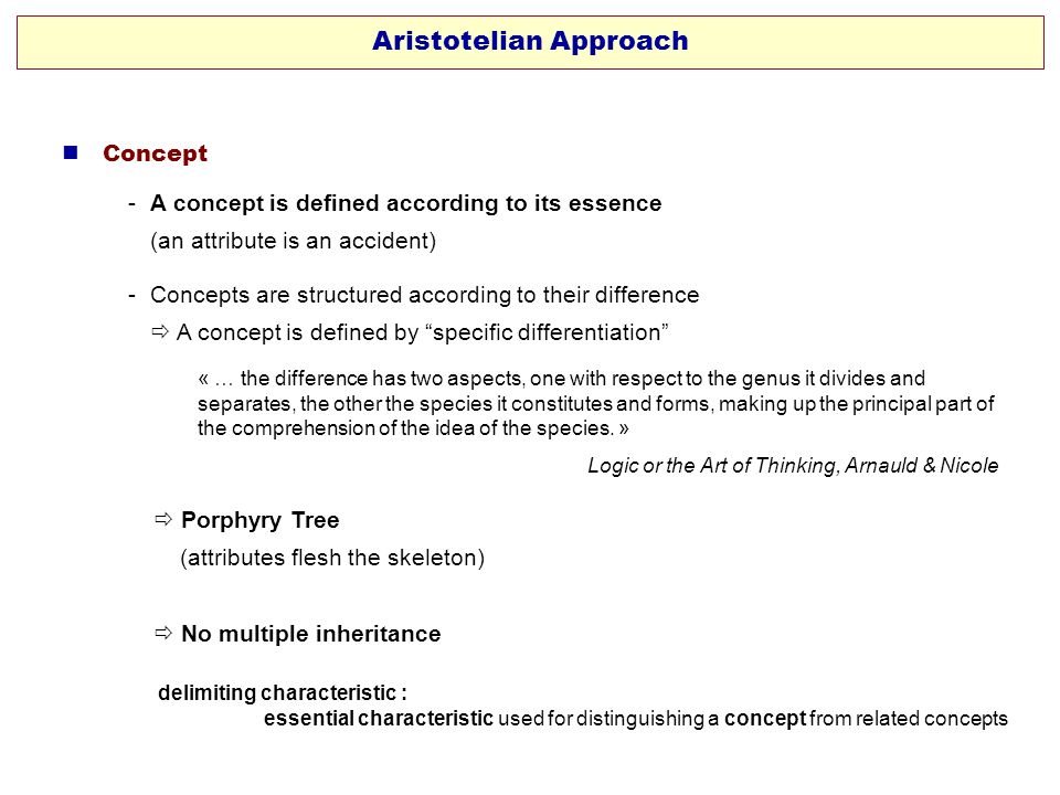 Aristotelian Approach