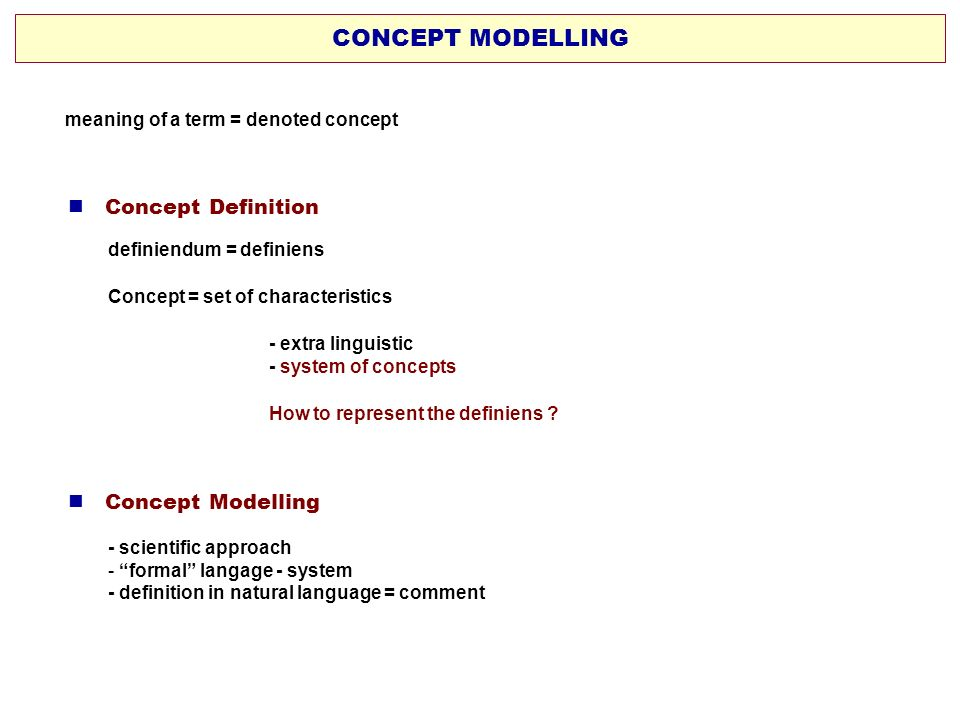 CONCEPT MODELLING  Concept Definition  Concept Modelling