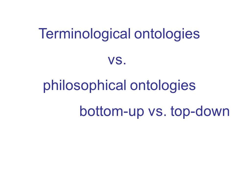 Terminological ontologies vs. philosophical ontologies