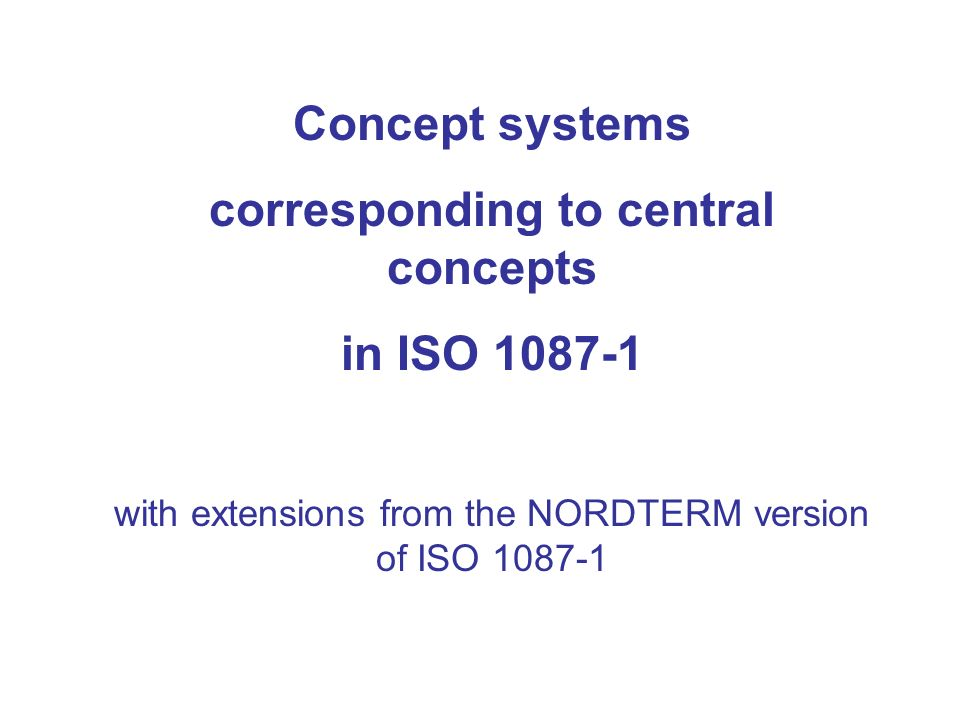 corresponding to central concepts