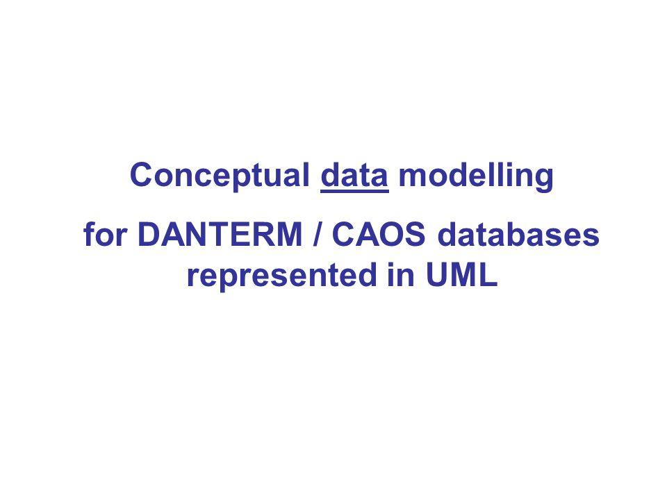 Conceptual data modelling