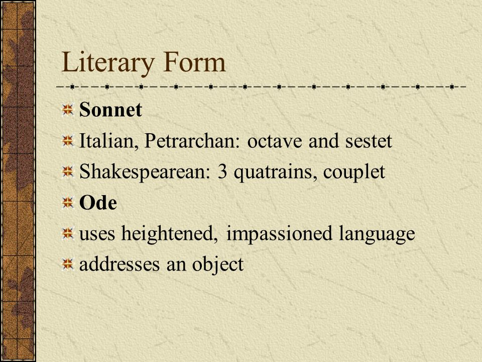 a comparsion of shakespearean and petrarchan sonnets Italian renaissance, edmund spenser, fairie queene, william shakespeare  the differences between italian and english sonnets (or petrarchan) sonnet.