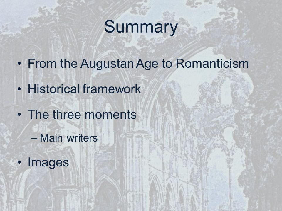 Introduction & Overview of Romanticism